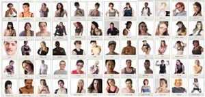 Dozens of thumbnails of diverse cast
